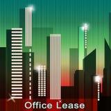 El arriendo de la oficina significa el ejemplo de los arriendos 3d de Real Estate Fotografía de archivo