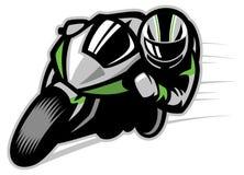 El arrinconar de la raza de la motocicleta Fotografía de archivo libre de regalías