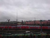 El arrivement central de las ómnibus de Munich Imagen de archivo libre de regalías
