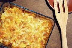 El arroz de curry japonés caliente coció el queso, comida hecha en casa Foto de archivo libre de regalías