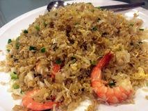 El arroz encendido camarón Fotografía de archivo libre de regalías