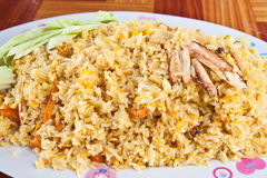 El arroz encendido cangrejo Fotografía de archivo libre de regalías
