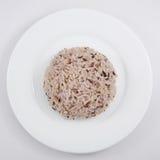 El arroz moreno cocinado Foto de archivo