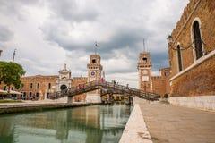 El arsenal veneciano, Italia Foto de archivo