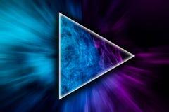 El arte abstracto coloreó humo en la forma de un triángulo fotos de archivo