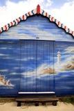 El arte adornó la choza de la playa Imagen de archivo libre de regalías