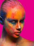 El arte creativo de compone, retrato del primer del modelo de moda Imagen de archivo libre de regalías