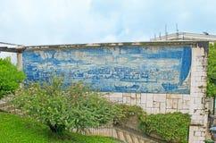 El arte de azulejos en Lisboa fotos de archivo