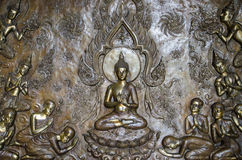 El arte de Buda adorna las paredes Fotografía de archivo libre de regalías