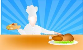 El arte de cocinar vector Fotografía de archivo
