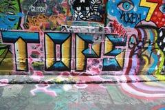 El arte de la calle del carril del Hosier es uno de la atracción turística principal en Melbourne Imagen de archivo libre de regalías
