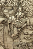 El arte de los cubiertos que talla en la pared Imagen de archivo libre de regalías