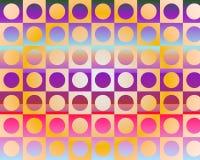 El arte de Op. Sys. va al partido en círculos de Gradient Imágenes de archivo libres de regalías