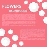 El arte de papel florece el fondo Estilo del corte del papel de las flores stock de ilustración