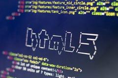 El arte del ASCII del nombre de la tecnología del HTML y el HTML real cifran a un lado Foto de archivo libre de regalías