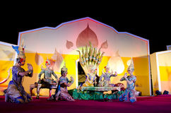 El arte del baile de Tailandia llamó el âKhonâ Fotos de archivo libres de regalías