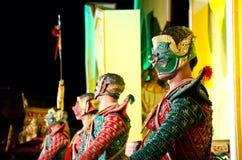 El arte del baile de Tailandia llamó el âKhonâ Foto de archivo libre de regalías