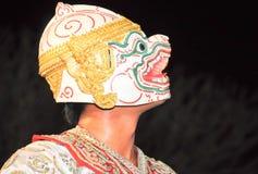 El arte del baile de Tailandia llamó Khon, un de clase superior Fotos de archivo libres de regalías
