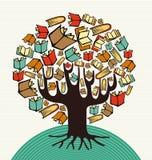 El arte del diseño de concepto reserva el árbol stock de ilustración