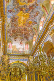 El arte del diseño interior de la iglesia Foto de archivo