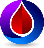 La sangre cae el logotipo Foto de archivo libre de regalías