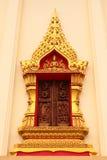 El arte en templo de la ventana Imagenes de archivo