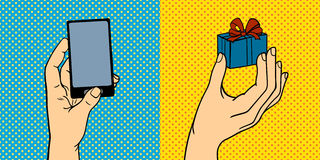 El arte pop da el ejemplo del vector Imágenes de archivo libres de regalías