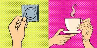 El arte pop da el ejemplo del vector Fotos de archivo