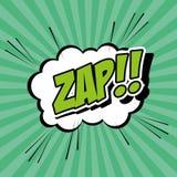 El arte pop de la burbuja de zap diseño Fotos de archivo libres de regalías