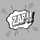 El arte pop de la burbuja de zap diseño Imagen de archivo libre de regalías