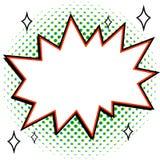El arte pop diseñó la plantilla de la burbuja del discurso para su diseño Forma vacía de la explosión del estilo del estallido-ar ilustración del vector