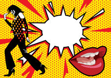 El arte pop repartió 2 ilustración del vector