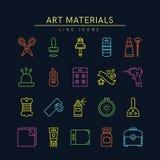 El arte suministra los iconos 2 Fotografía de archivo