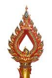 El arte tailandés adorna el uso de la estatua para el polo de la lámpara Imagenes de archivo