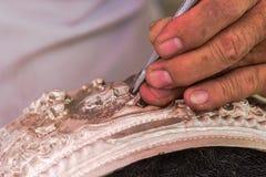 El arte y el modelo de tallar los cubiertos, Tailandia imágenes de archivo libres de regalías
