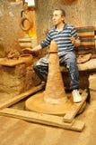 El artesano principal hace la cerámica Imagen de archivo
