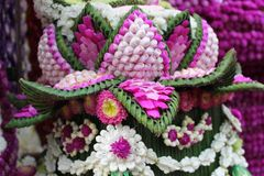 El artificial fresco de flores en Tailandia imagen de archivo