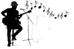 El artista de la música canta y juega ilustración del vector