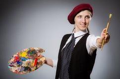 El artista de la mujer en concepto del arte foto de archivo libre de regalías