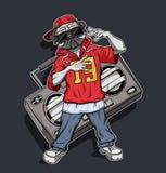 El artista de rap del barro amasado lee rap stock de ilustración
