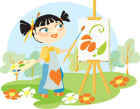 El artista en un al aire libre Imagen de archivo libre de regalías
