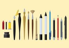 El artista equipa diseño plano Fotos de archivo