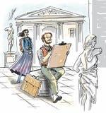 El artista está drenando Imagen de archivo libre de regalías