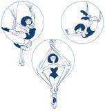 El artista joven del circo se realiza ilustración del vector