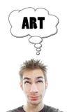 El artista joven piensa en arte Fotografía de archivo