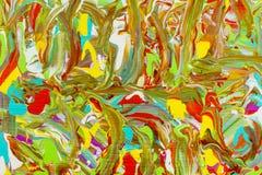 El artista pinta el fondo al azar de los colores libre illustration