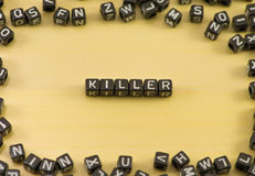 El asesino de la palabra foto de archivo