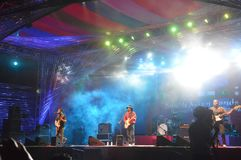 El asiático del sur congriega festivales imagen de archivo