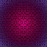 El asiduo centró hexágonos de los octágonos y convexo del modelo cuadrado y brillante violetas y púrpuras stock de ilustración