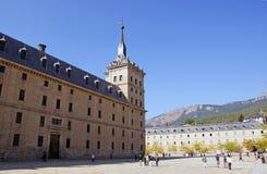 El asiento real de San Lorenzo de El Escorial Fotografía de archivo libre de regalías